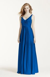 My bridesmaid dresses! Long Satin Tank Ball Gown in ...