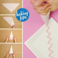 No piping bag? No problem! Cut and fold parchment paper ...