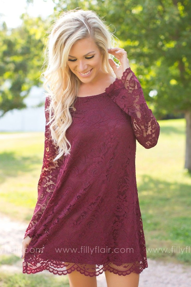 fall dresses for wedding Long sleeve lace bridesmaid dress for a fall or winter wedding Bridesmaid Dress Pinterest Wedding Sleeve and Wine