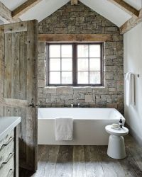 -stone used in bathroom modern rustic bathroom design ...