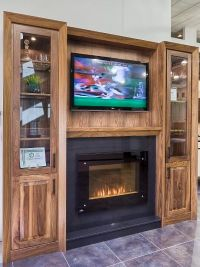 gas fireplace insert entertainment center ideas