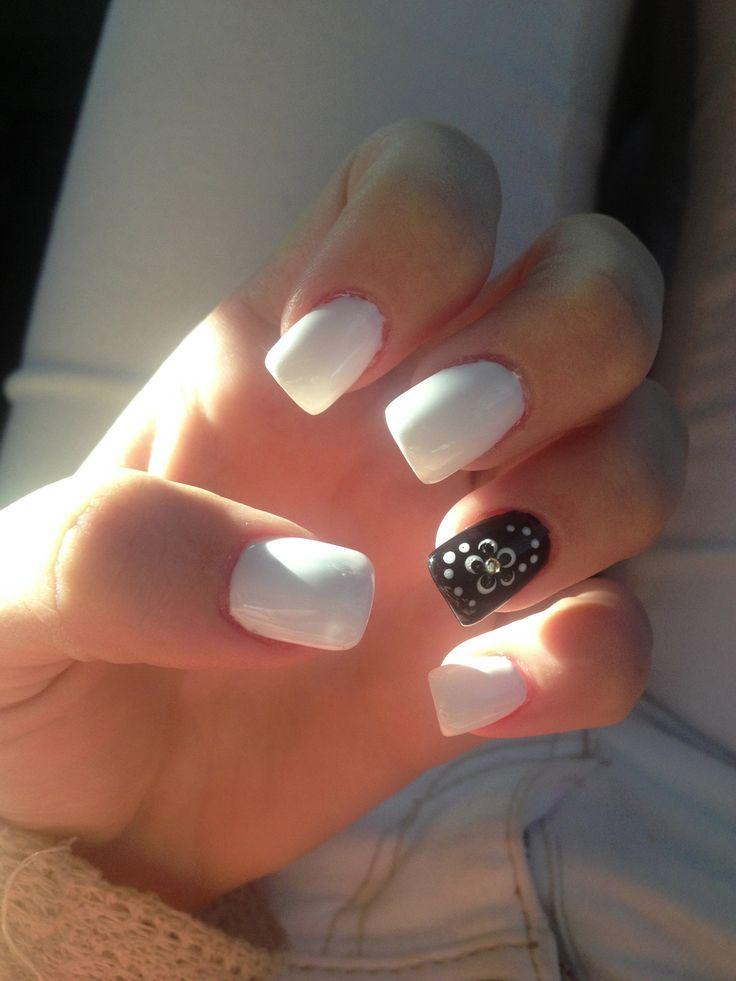 Black And White Acrylic Nails Nail Designs Pinterest