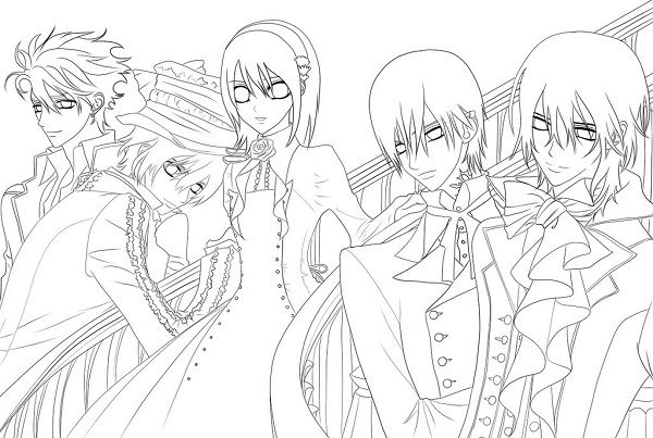 Steampung Girl Holding Skull Wallpaper Vampire Knight Anime Coloring Pages Vampire Knight Anime