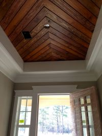 Foyer~Penny Width Pine Paneling~Tongue Groove Ceiling ...