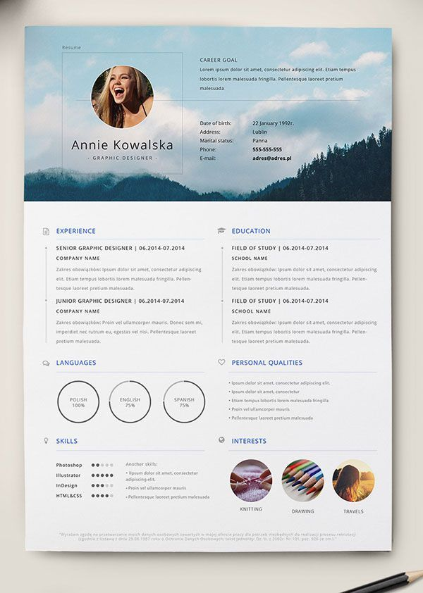 best cv layout examples