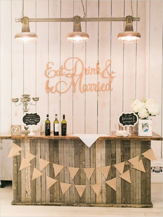 25+ best ideas about Rustic wedding bar on Pinterest