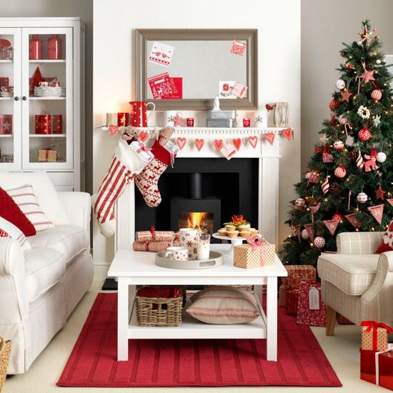 17 Best Ideas About Christmas Living Rooms On Pinterest | Front