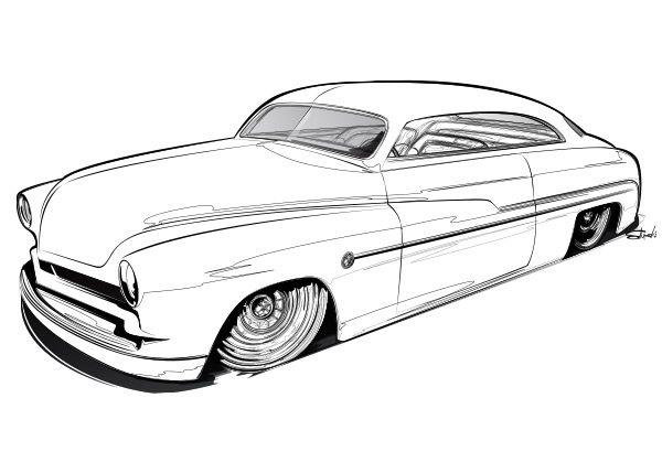 1951 chevy fleetline hot rod