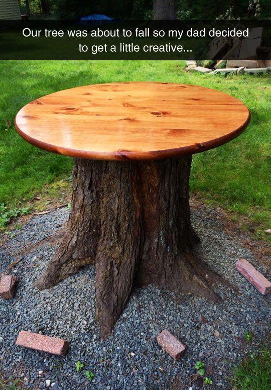 15 Must See Tree Stump Table Pins Stump Table Tree
