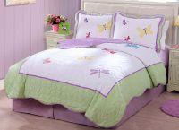 Purple Green Butterfly Dragonfly Bedding Little Girls Full ...