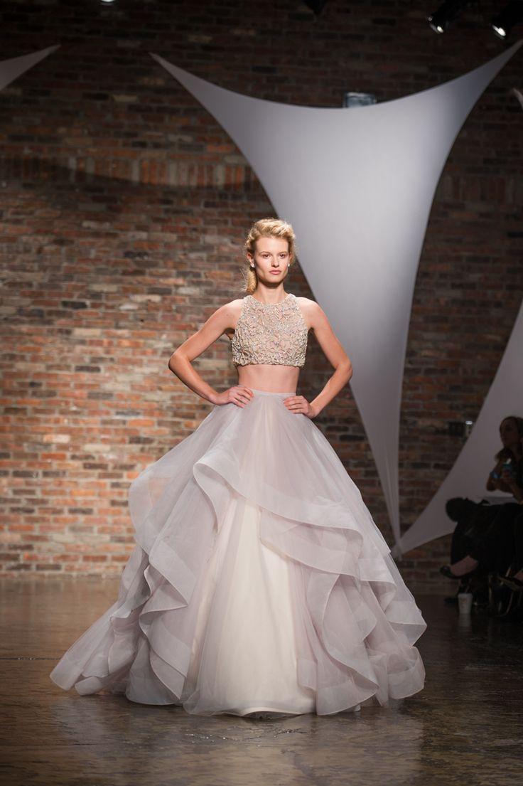 le nombril du monde crop top wedding dress Hailey Paige crop top wedding dress