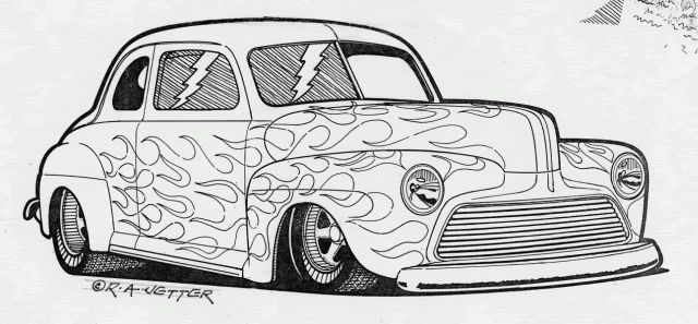 1950 ford coupe hot rod