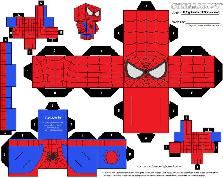 Cubee Spider Man By Cyberdronedeviantartcom On