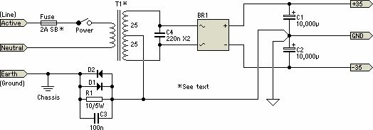 dual power amplifier using tda7293 mosfet ic