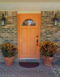 1000+ ideas about Orange Front Doors on Pinterest