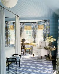 serene blues/shades and panels for bay style windows | NYC ...