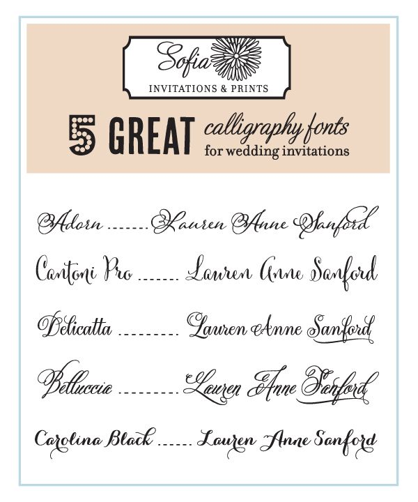 Invitation Handwriting Font 1000+ Images About Wedding Invitation Fonts On Pinterest