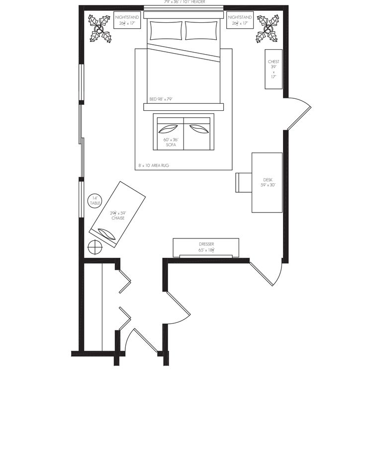 Master Bedroom Furniture Layout