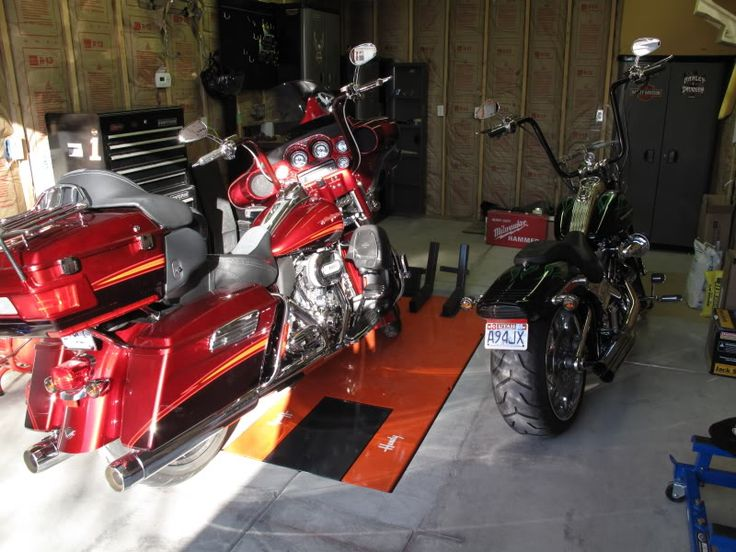 Anyone Recessed Their Motorcycle Lift In The Garage Floor