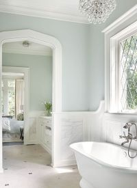 Bathroom with Marble Wainscoting - Transitional - Bathroom ...