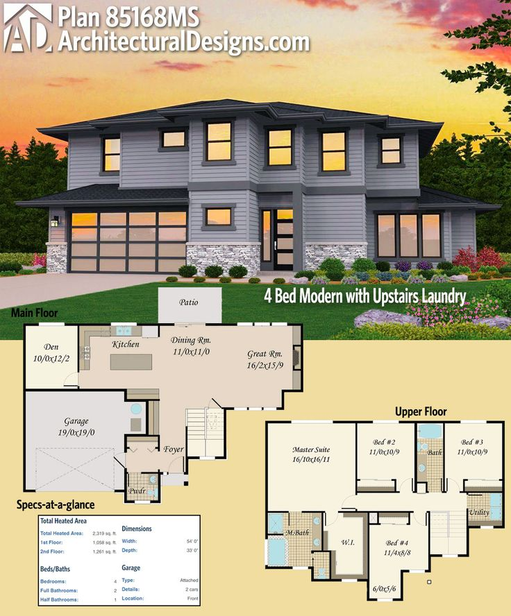 161 Best Images About Modern House Plans On Pinterest