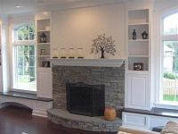 Window seats, Fireplace between windows and Small shelves ...