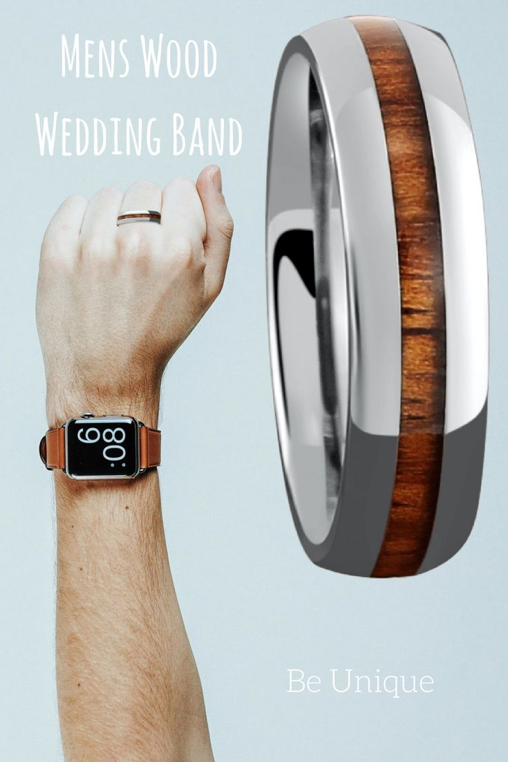wood wedding bands mens wood wedding bands Mens titanium wood wedding band The first outdoorsmen wedding band made with genuine