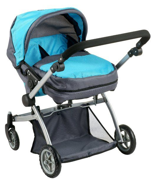 Stroller Mom Reviews Deluxe Twin Doll Pram Stroller Blue Grey Clara 39;s