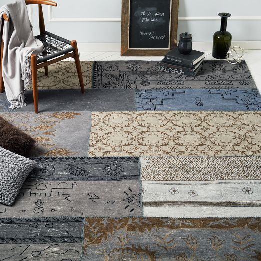 Picks Up Blues And Some Yellows West Elm Cadiz Rug 9