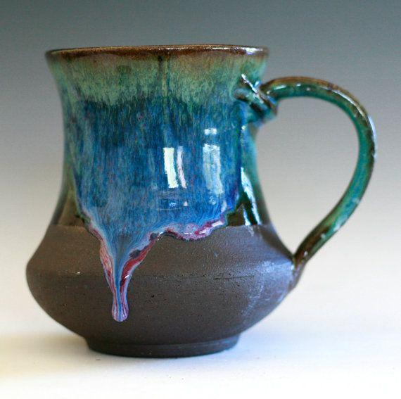 Large Coffee Mug 16 Oz Handmade Ceramic Cup Tea Cup