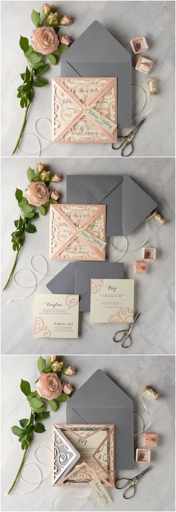 box wedding invitations wedding invitations with pictures 30 Our Absolutely Favorite Rustic Wedding Invitations