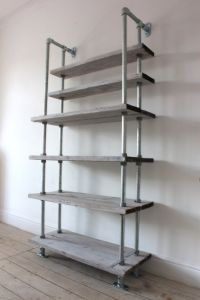 Reclaimed White-washed Scaffolding Boards and Galvanised ...