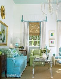 Palm Beach chic living room | Window Treatment Ideas ...