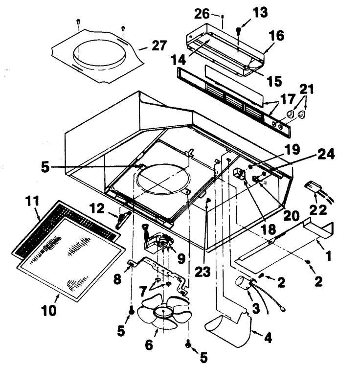 range hood diagram moreover range hood diagram parts list for model