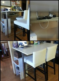 DIY Kitchen Bar Height breakfast bar. Cheap table and legs ...