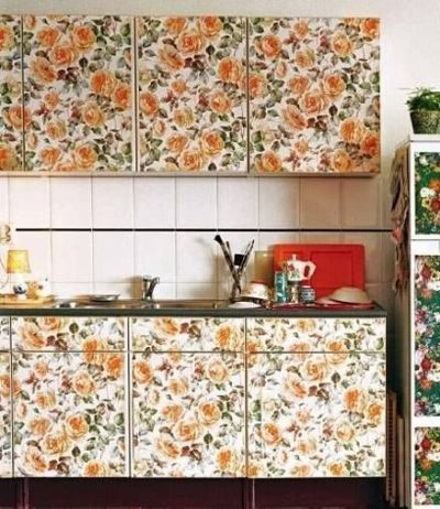 Removable Wallpaper For Kitchen Cabinet | For the Home ...