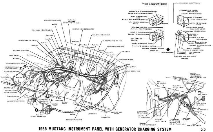 1966 mustang instrument panel Schaltplang