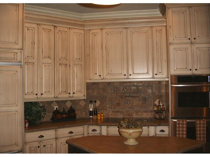 Pictures Of Refaced Kitchen Cabinets Refinished Cabinets: Nantucket White With Van Dyke Brown