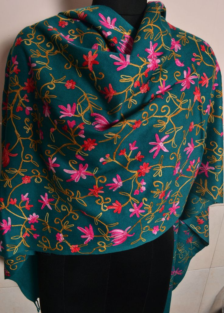 Kashmiri Embroidered Cashmere Shawl