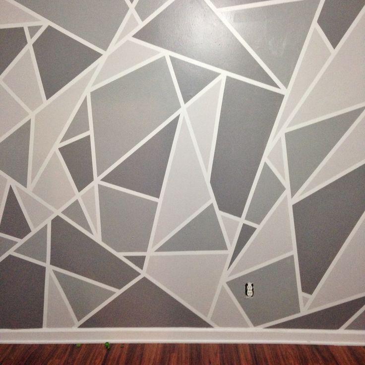 Best 25+ Geometric wall ideas only on Pinterest