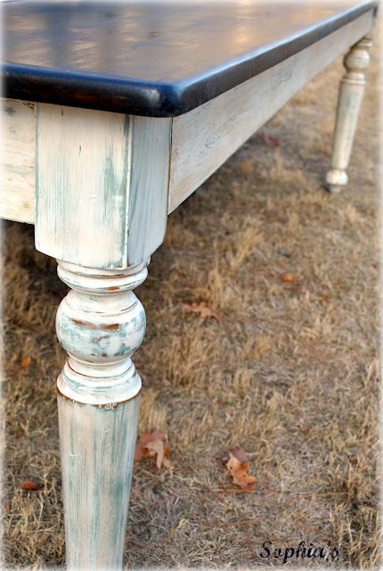 Sophia39s 8ft Farm Table Dark Walnut Stain On Top Ascp