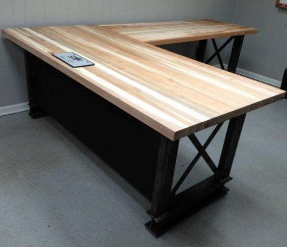The industrial L shape Carruca Office Desk