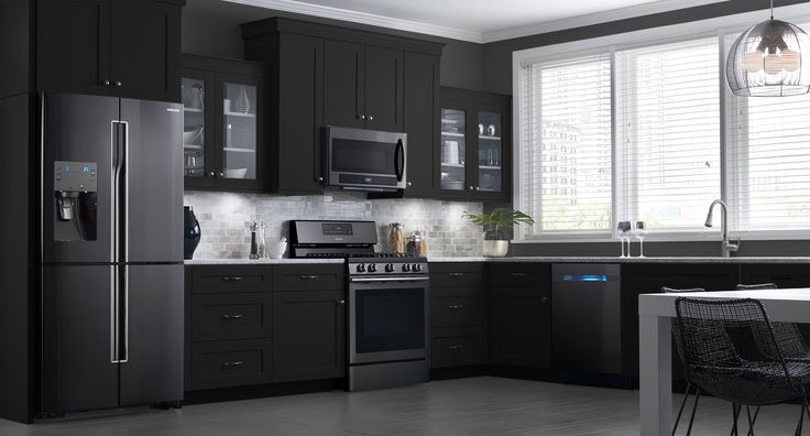 Couches You Sink Into These Samsung Black Stainless Steel Appliances Look