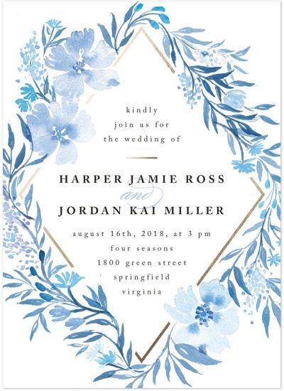 25+ best ideas about Blue wedding invitations on Pinterest ...