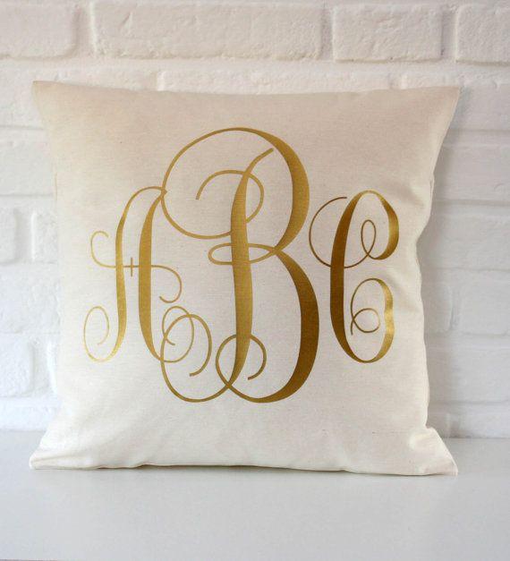 17 Best ideas about Monogram Pillows on Pinterest