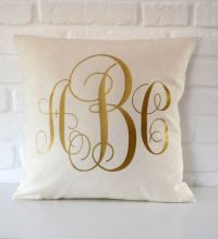 17 Best ideas about Monogram Pillows on Pinterest