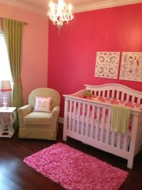 Baby Girl Nursery - Accent wall with lighter walls ...