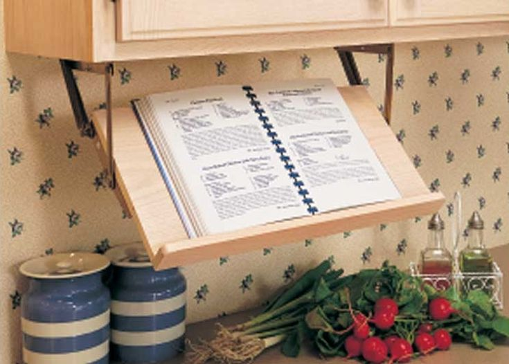 Small Kitchen Ideas With Marvelous Retractable Book Stand