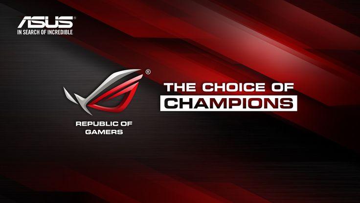 Asus Rog Wallpaper Hd Asus The Choice Of Champions Rog Brand And Logos Hd