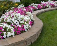 Paver landscaping retention walls and stone landscape ...